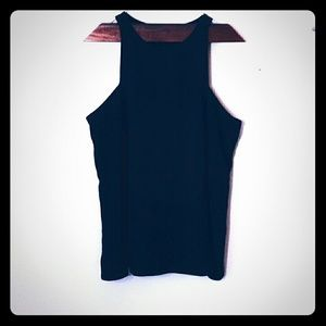 Ann Taylor Black Sleeveless Top, Lined, Bow Detail